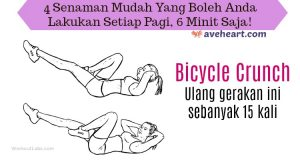 senaman-pagi-bicycle-crunch