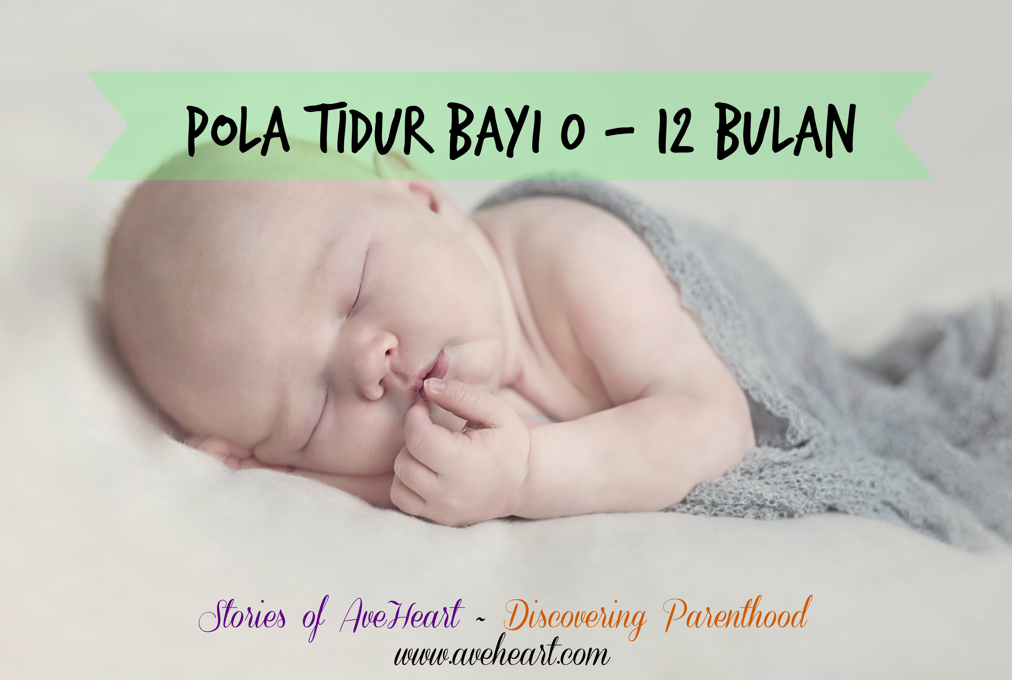 Pola Tidur Bayi 0 - 12 Bulan